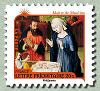 timbre: L'Adoration de l'Enfant Jésus