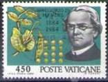 timbre: Centenaire mort de l'abbé Gregor Mendel