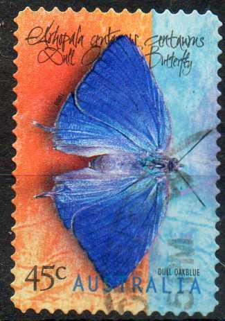 timbre: Faune. Papillons d'Australie