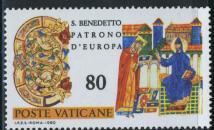 timbre: Saint Benoit et l'abbé Désiré