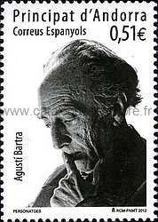 timbre: Agusti Bartra, poète et professeur