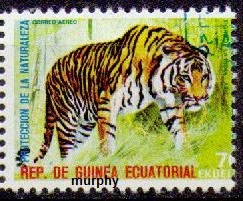 timbre: Protection de la nature : tigre