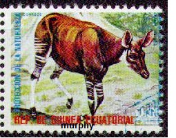 timbre: Protection de la nature : okapi