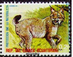 timbre: Protection de la nature : lynx