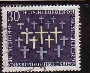 timbre: Cinquantenaire de l'organisation d'entretien des tombes