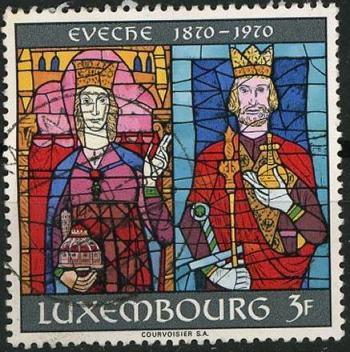 Timbre: Cent. de l'évêché de Luxembourg