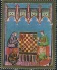 Timbre: Championnats du monde d'échecs à Mexico **