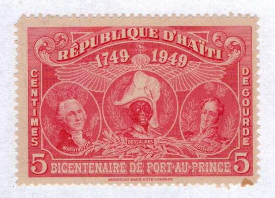 Timbre:     RSV...... Bicentenaire de Port-au Prince.