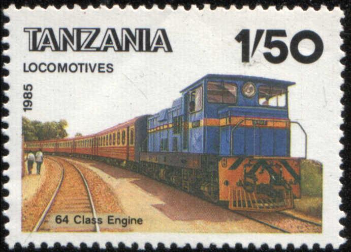 Timbre: Locomotives et trains de Tanzanie, 64 class engine