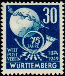 timbre: 75ème anniversaire de l'Union Postale Unive