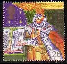 Timbre: Roi Jacques 1er et la bible de 1611