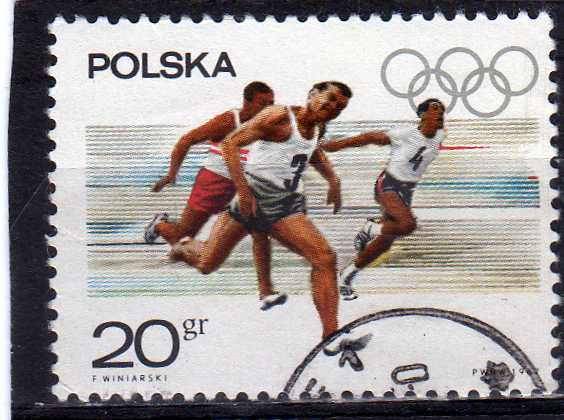 Timbre: Course de relais masculin