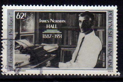 timbre: Portrait de James Norman Hall - écrivain