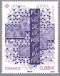 timbre: Musée de la poste - Paris