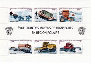 Timbre:  Moyens de transports en région polaire