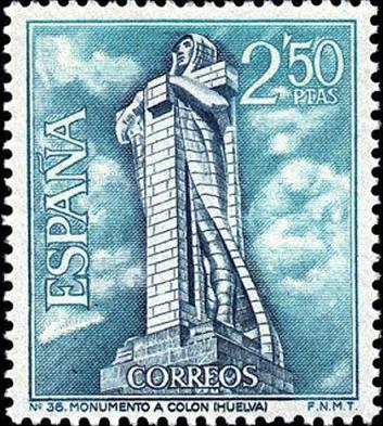 timbre: Monument à colomb, Huelva