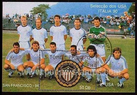 timbre: Italia 90 - équipe des USA
