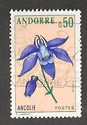 Timbre: Fleurs des vallées d'Andorre-Ancolie