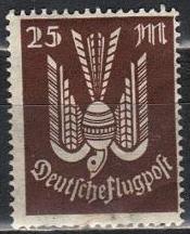 timbre: Oiseau postal stylisé unicolore
