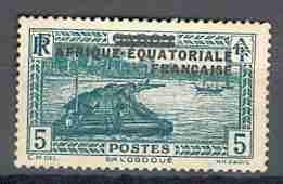 Timbre: Sur l'Ogoué