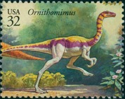 Timbre: Dinosaures : Ornithomimus