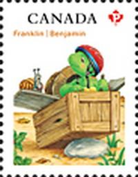Timbre: Franklin et Arnaud l'escargot