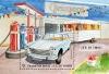 timbre: Peugeot 404 Berline - Fete du timbre
