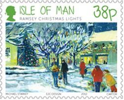 Timbre: Lumières de Noël de la ville de Ramsey