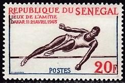 timbre: Jeux sportifs, saut en hauteur