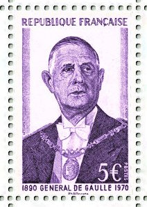 Timbre: Charles de Gaulle 1890-1970
