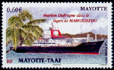 Timbre: Emission  commune  MAYOTTE-  TAAF